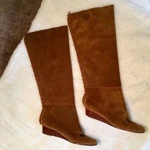 Michael Kors Suede Wedge Boots Women's Size 6